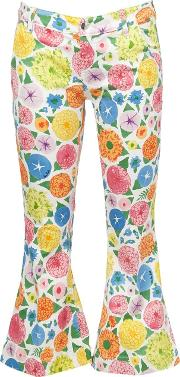 The Seafarer , Printed Cropped Jeans Women Cottonspandexelastane 27