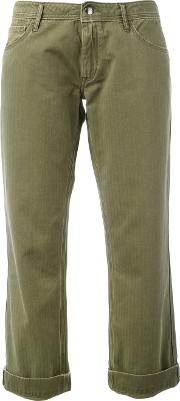 The Seafarer , Straight Leg Chinos Women Cotton 28, Green