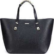 Thomas Wylde , Embossed Crocodile Effect Tote Women Calf Leather One Size, Black