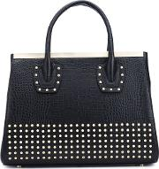 Thomas Wylde , Studded Tote Women Calf Leather One Size, Black