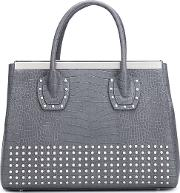 Thomas Wylde , Studded Tote Women Calf Leather One Size, Grey