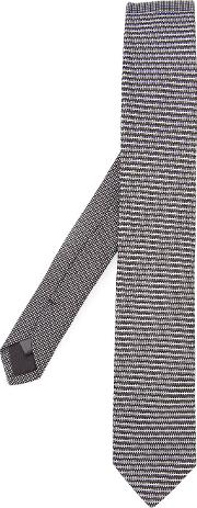 Title Of Work , Printed Tie Unisex Silk One Size, Black