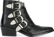 Toga Pulla , Buckled Ankle Boots Women Leather 36, Black