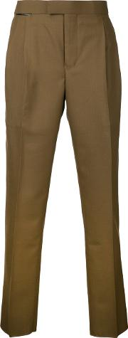 Toga Virilis , Slim Fit Trousers Men Woolpolyester One Size, Brown