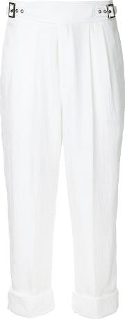 Tom Ford , Cropped Trousers Women Acetate 42, White
