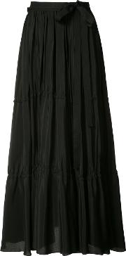 Tome , Pleated Skirt Women Silk Xs, Black