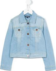 Tommy Hilfiger Junior , Denim Jacket Kids Cottonpolyesterspandexelastane 4 Yrs, Blue