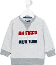 Tommy Hilfiger Junior , Logo Sweatshirt Kids Cottonpolyester 12 Mth, Grey
