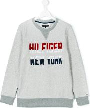 Tommy Hilfiger Junior , Logo Sweatshirt Kids Cottonpolyester 14 Yrs, Grey