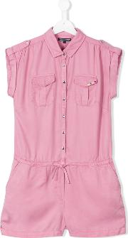 Tommy Hilfiger Junior , Shirt Playsuit Kids Lyocell 14 Yrs, Pinkpurple