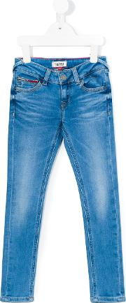 Tommy Hilfiger Junior , Skinny Jeans Kids Cottonspandexelastane 4 Yrs, Blue