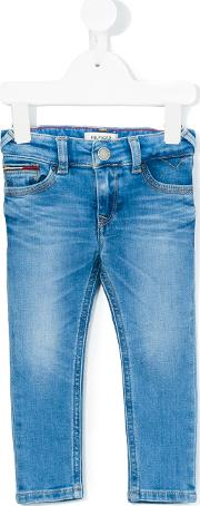 Tommy Hilfiger Junior , Slim Fit Jeans Kids Cottonpolyesterspandexelastane 12 Mth, Blue