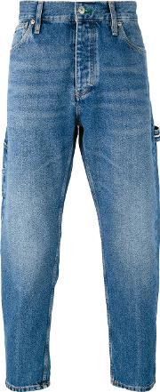 Tommy Jeans , Stonewashed Cropped Jeans Men Cotton 34, Blue