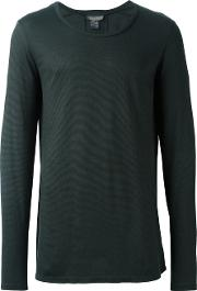 Tony Cohen , Classic Long Sleeve T Shirt Men Linenflaxviscose 52, Green