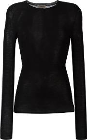 Tony Cohen , Knitted Fitted Top Women Cashmere 38, Black