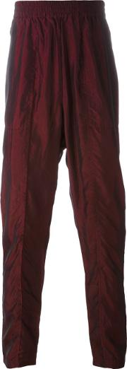 Tony Cohen , Metallic Straight Trousers Men Cupro 50, Red