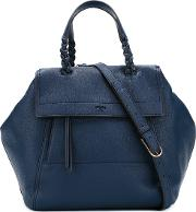 Tory Burch , Braided Strap Flap Tote Women Leather One Size, Women's, Blue