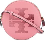 Tory Burch , Perforated Logo Crossbody Bag Women Leather One Size, Women's, Pinkpurple