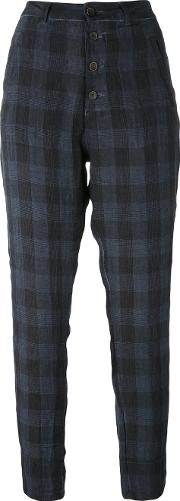 Transit , Checked Trousers Women Linenflax 40, Blue