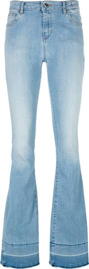 Twinset , Twin Set Bootcut Jeans Women Cottonelastodienepolyester 27, Blue