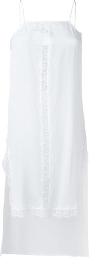 Twinset , Twin Set Elongated Lace Detail Top Women Silkpolyamide Xxs, White