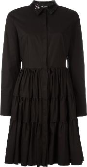 Twinset , Twin Set Flared Shirt Dress Women Cottonspandexelastane 44, Black