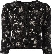 Twinset , Twin Set Floral Print Cardigan Women Cottonviscose M, Black