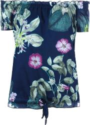 Twinset , Twin Set Floral Print Top Women Cotton S, Blue