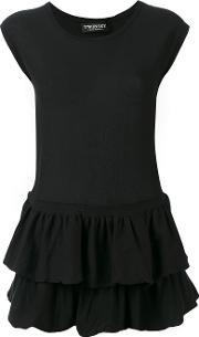 Twinset , Twin Set Pleated Trim Top Women Cotton Xs, Black