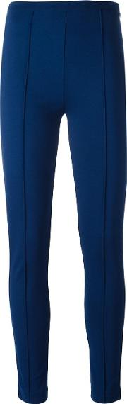 Twinset , Twin Set Ribbed Detailing Leggings Women Viscosepolyesterspandexelastane 38, Blue