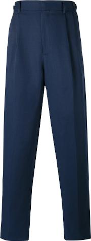 Umit Benan , Pleated Trousers Men Cottonlinenflaxmodal 50, Blue