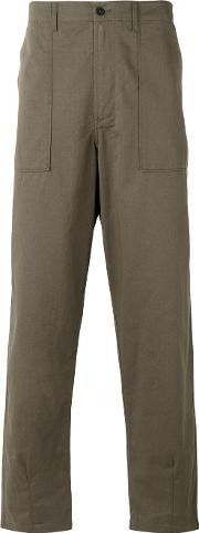 Universal Works , Loose Fit Trousers Men Cotton 36, Green