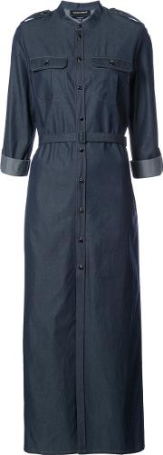 Vanessa Seward , Belted Shirt Dress Women Cotton 34, Blue