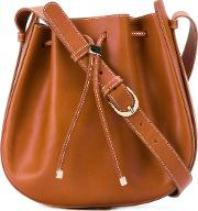 Vanessa Seward , Drawstring Shoulder Bag Women Calf Leather One Size, Women's, Brown