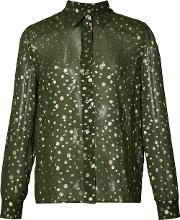 Vanessa Seward , Sheer Spot Shirt Women Silkpolyester 40, Green