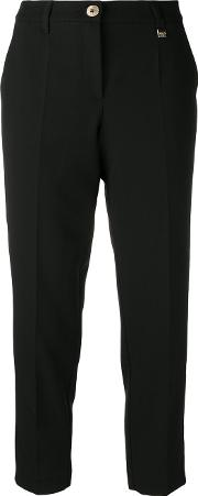 Versace Jeans , Cropped Tailored Trousers Women Polyesterspandexelastaneacetateviscose 40, Black