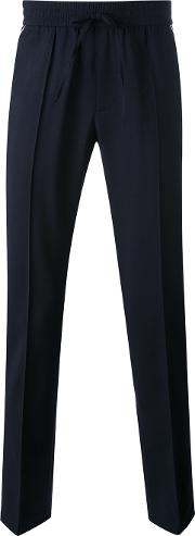 Vince , Contrast Piping Jogging Trousers Men Wool M, Blue