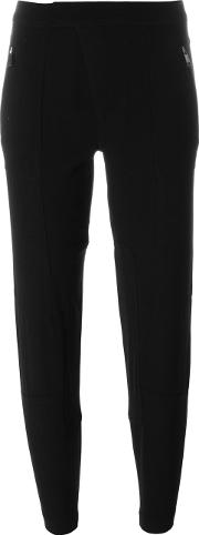 Vince , Cropped Tapered Trousers Women Polyester 2, Black