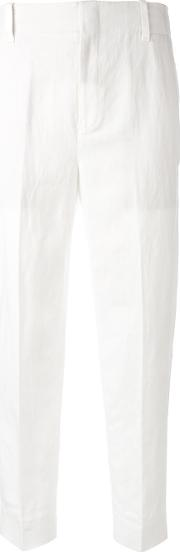 Vince , Tapered Cropped Trousers Women Linenflaxlyocellcotton 2, White