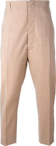 Vivienne Westwood Man , Cropped Tapered Trousers Men Cottonviscosevirgin Wool 50, Nudeneutrals