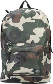 Wesc , Chaz Camouflage Backpack Men Polyester One Size, Green