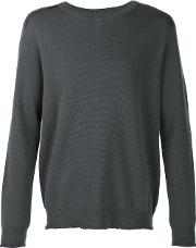 Wooyoungmi , Exposed Seam Detail Jumper Men Wool 54, Grey