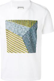 Wooyoungmi , Square Pattern T Shirt Men Cotton 48, White
