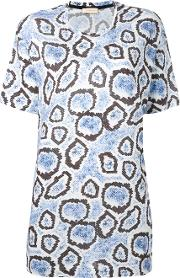 Wunderkind , Printed Boxy T Shirt Women Cottonmodal S, White