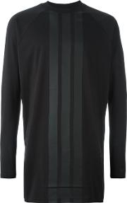 Y3 , Y 3 Striped Longsleeved T Shirt Men Organic Cotton M, Black