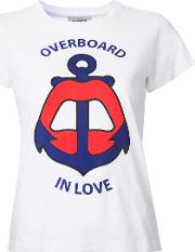 Yazbukey , Overboard In Love T Shirt Women Cotton S, White