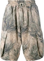 Yeezy , Camouflage Cargo Shorts Men Cotton L