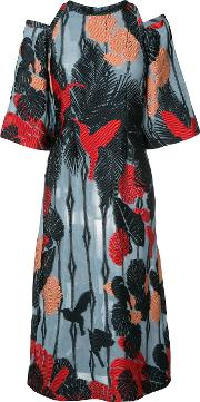 Yigal Azrouel , Hummingbird Shift Dress Women Polyesterviscose 8, Blue