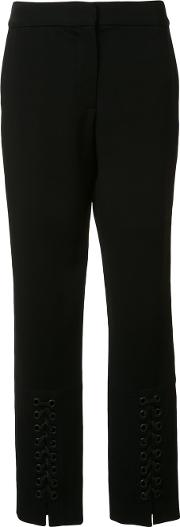 Yigal Azrouel , Lace Up Detail Slim Pants Women Spandexelastaneviscose 4, Black