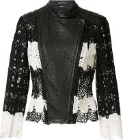 Yigal Azrouel , Mod Lace & Leather Jacket Women Leatherpolyester 8, Black